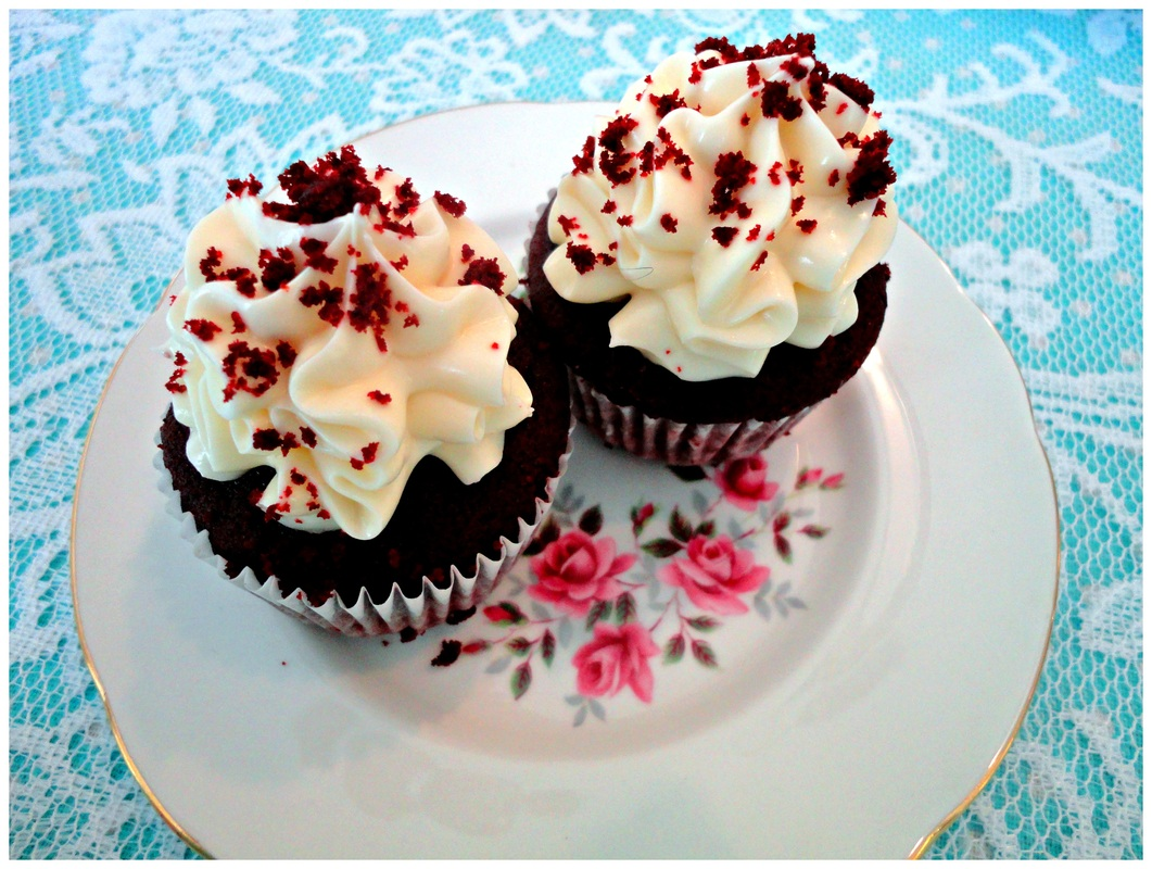 Red velvet cupcakes at Waterford Castle Lodges