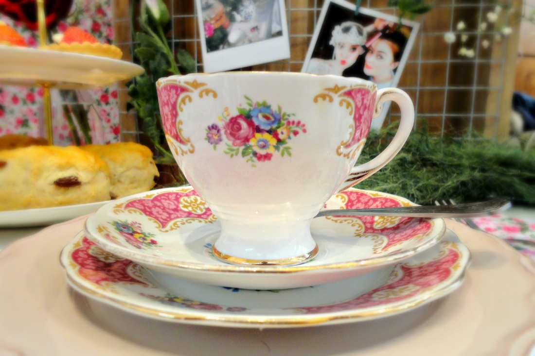 Pretty teacup at The Spectacular Vintage Wedding Fair, Cork