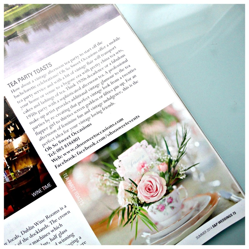 Oh So Sweet Occasions in the latest issue of Social and Personal Weddings magazine.