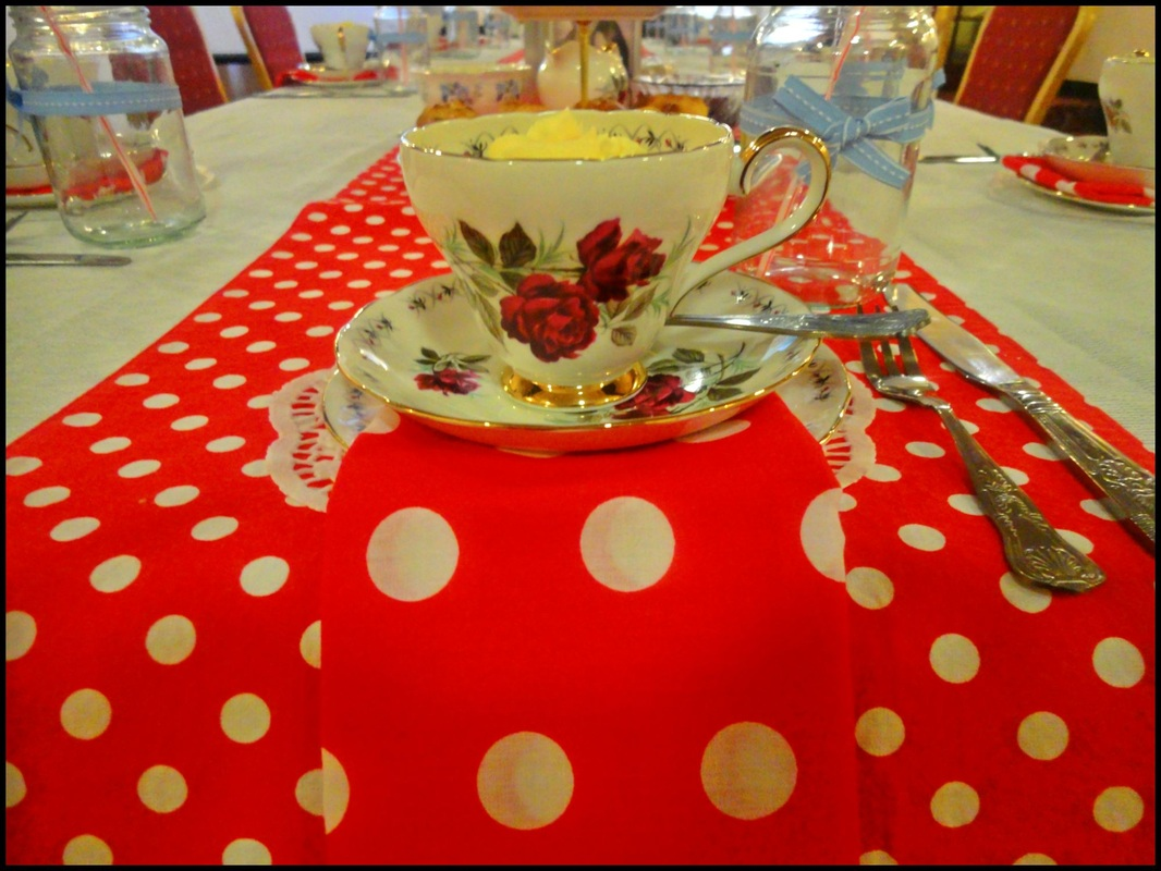 Pretty tea party place setting