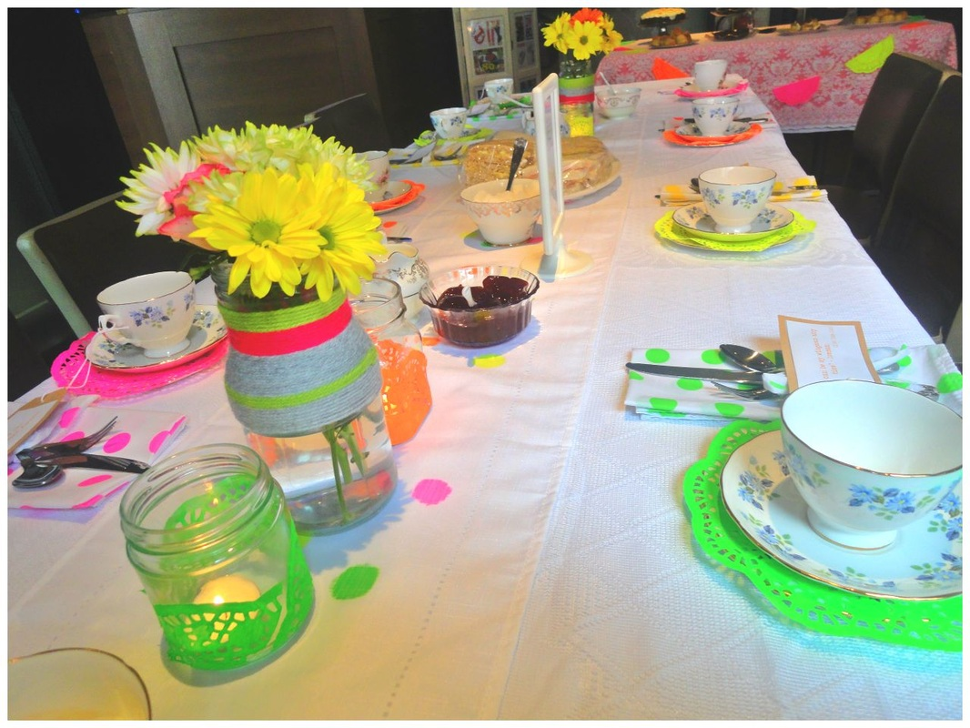 1980s inspired tea party