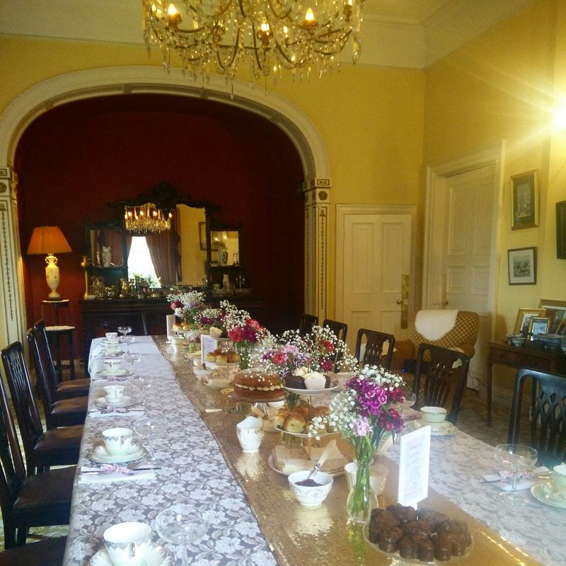 Afternoon tea for a hen party in Blanchville House, Kilkenny